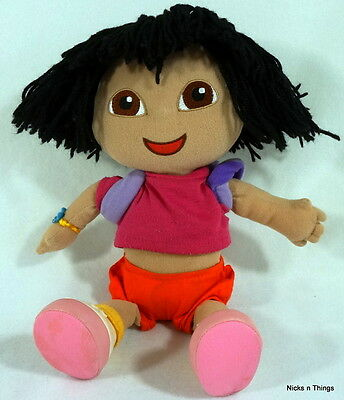 "Dora the Explorer DORA w/Backpack Plush Stuffed Animal Doll 12"" Vintage Toy Gund"
