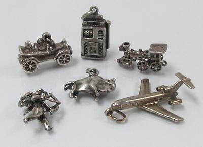 Dealer's Lot of 6 Sterling Silver Miscellaneous Charms ~ 24.5grams ~ 3-A8193