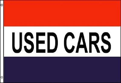 USED CARS Flag Car Dealer Banner Advertising Pennant Automotive Sign 3x5 Outdoor