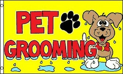 PET GROOMING Flag Dog Store Advertising Banner Business Pennant Groomer Sign 3x5
