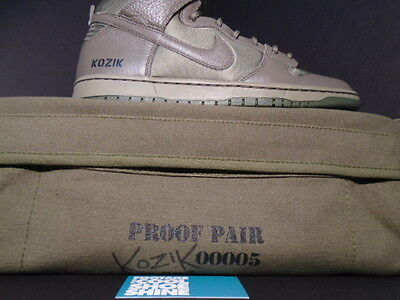 Nike Dunk High Premium SB FRANK KOZIK AUTOGRAPH SIGNED OLIVE GREEN MILITARY  BAG e2d36923063f5