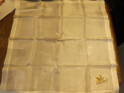 Antique Silk Handkerchief Winnipeg Canada Victorian Edwardian