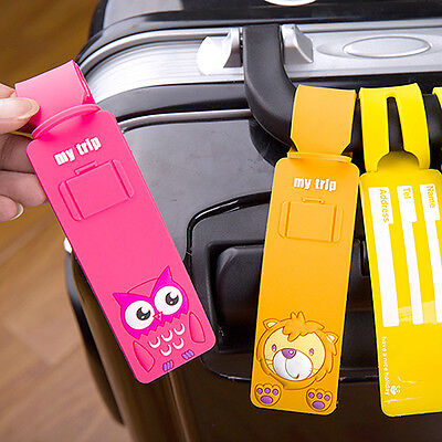 Silicone Travel Luggage Tags Baggage Suitcase Bag Name Address Labels Little