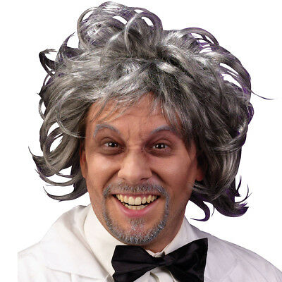 W409 Mad Scientist Wig Einstein Adult Men's Halloween Frizzy Costume Accessory