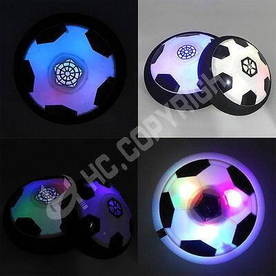 Hot Children Kids Hover Fun Football Gift Indoor Soft Foam Floating Fun ball LED