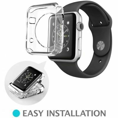 Clear Apple iWatch 38mm Soft & Slim Protective Case with 2 Free Screen Cover