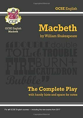 Grade 9-1 GCSE English Macbeth - The Complete Play (CG... by CGP Books Paperback