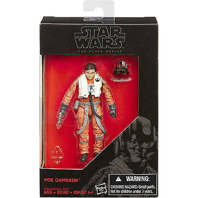 "Hasbro Star Wars The Black Series 3.75"" W3/15 EP7 Poe Dameron Action Figure"