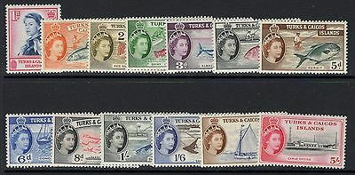 Turks & Caicos Is. Sg237/49 1957 Definitive Set To 5/= Mtd Mint