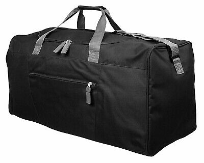 Mens EXTRA LARGE BIG Sports & Gym Duffle Holdall Bag TRAVEL WORK MIG BLACK 2016