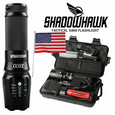 Bright 5000LM X800 shadowhawk CREE T6 LED Flashlight Torch Lamp G700 Light Kit