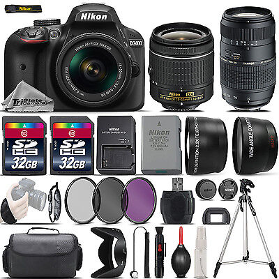 Nikon D3400 Digital SLR Camera + 18-55mm VR + 70-300mm + 64GB & More -4 Lens Kit