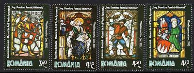 Romania Mnh 2011 Stained Glass Windows Set