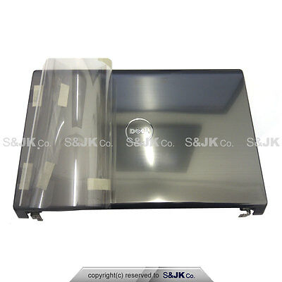 NEW GENUINE Dell Studio 1555 1557 1558 LCD back Cover Lid Hinges w Power Button