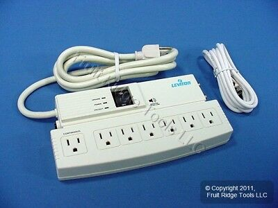 New Leviton 7-Outlet COMMERCIAL Surge Protector Power Strip Suppressor 4950-PSC