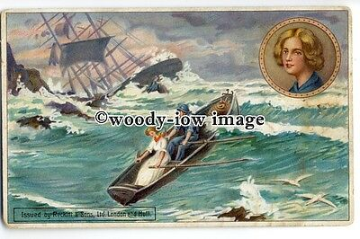 su2230 - Grace Darling - Lifeboat - Shipwreck - Reward Card by Reckitts