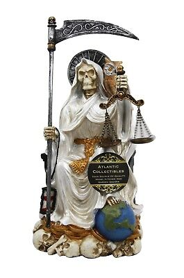 White Robe Holy Death Santa Muerte Day of The Dead Patron of Purity Figurine