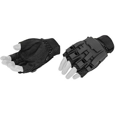 Lancer Tactical Paintball Airsoft Shooting Half Finger Hard Protective Gloves