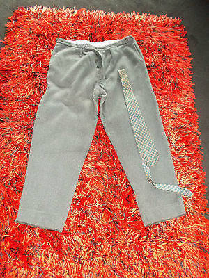 Mens Vintage 40S 50S Trousers  36  Buttons Gc Retro  Am Dram Workwear Pocket