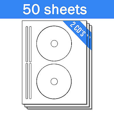 Geunine OfficeSmartLabels Avery 8960 Compatible CD DVD Labels with Spine Labels