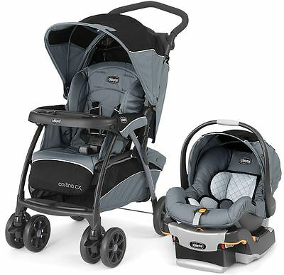 Chicco Cortina CX Baby Travel System Stroller w KeyFit 30 Car Seat Iron NEW 2016
