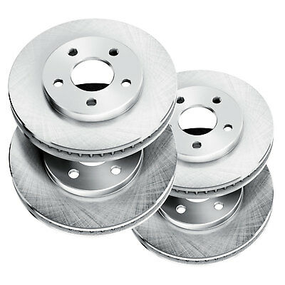 Fit 2005-2010 Ford Mustang Front Rear PowerSport Blank Brake Rotors