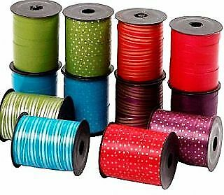 12 Assorted 20m Wide Curling Ribbon Rolls | Gift Wrap Supplies