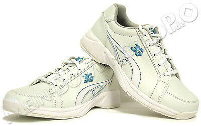 Women's Bowling Shoes 3G Sneaks white/blue for Right handed