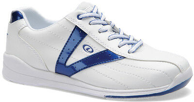 Bowling Shoes Women Dexter Vicky white/blue for Right and Left-handed