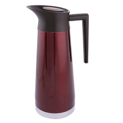 Household Hotal Restaurant Stainless Steel Vacuum Heat Retaining Pot Red 2.4L
