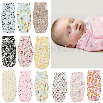 100% Cotton Soft Baby Infant Swaddle Wrap Blanket Sleeping Bag For 0-6 Months