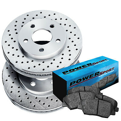 Fit 2017 Lincoln Ford Mkz Fusion Rear Drilled Brake Rotors Ceramic