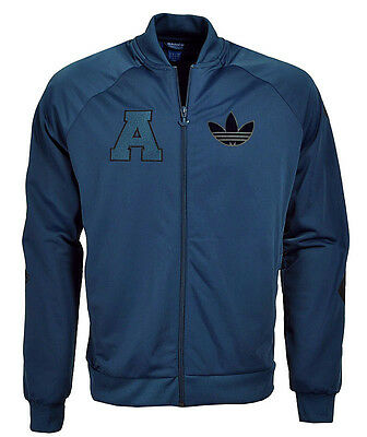 Adidas Originals Trefoil Totenkopf Badge TT Trainingsjacke Jacke blau Gr. XL