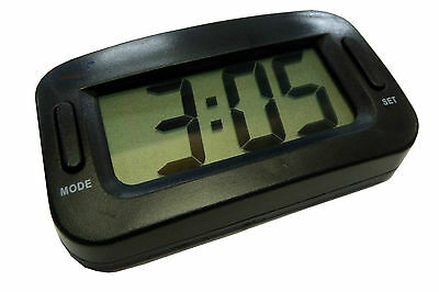 CAR DASHBOARD LCD, JUMBO DIGITAL CLOCK: Large Display, Multi Function, Adhesive