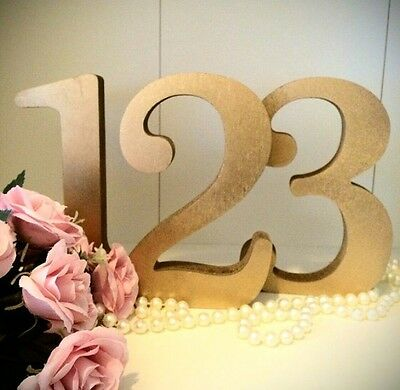 Gold Table Numbers Wedding Table Numbers Freestanding Set Of 1-10