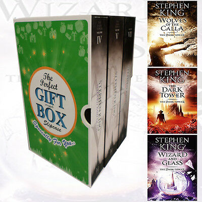 Stephen King Dark Tower Collection 3 Books Set Gift Wrapped Slipcase New Pack