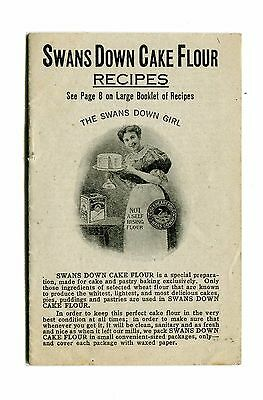 Vintage Cook Book SWANS DOWN CAKE FLOWER Recipes Advertising