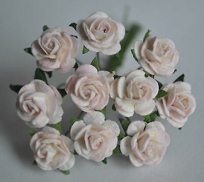 50 PALE BABY PINK ROSE (1 cm) Mulberry Paper for weddings crafts cardmaking