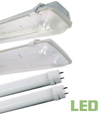 Led Non Corrosive Light Fitting Single Or Twin Weatherproof Strip Light 2Ft-6Ft
