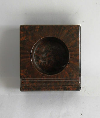 Vintage 1930s Bakelite Inkwell with Integral Pen Rest. Deco/ Desk/ English