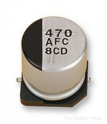 SMD Aluminium Electrolytic Capacitor, Radial Can - SMD, 330 µF, 6.3 V, S Series