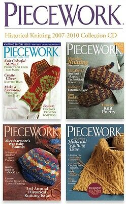 NEW! PieceWork Magazine Historical Knitting 2007-2010 Collection [CD] [4 Issues]