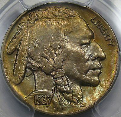 1937-D Buffalo Nickel Gem BU PCGS MS-64... Flashy and Very NICE! Beautiful Tone!