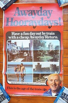 1980s BR Original Railway Platform Station Travel Poster x 9 All 12 Are Shown