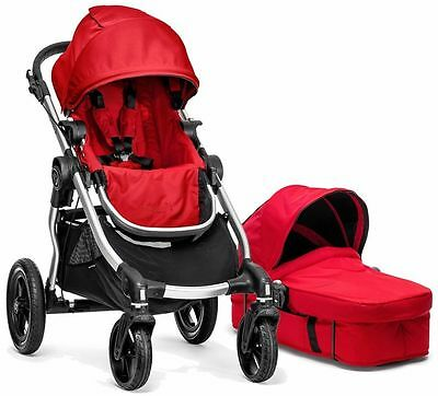 Baby Jogger City Select Stroller Ruby with Bassinet Pram System Travel NEW 2017