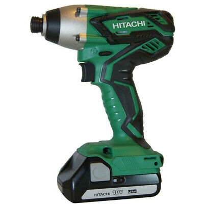 Hitachi 18V Li-Ion 1/4 in. Hex Impact Driver Kit WH18DGL New