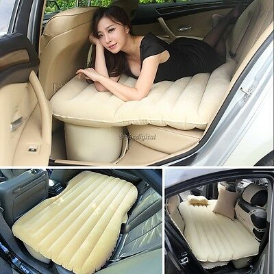 Inflatable Travel Holiday Camping Car sex Air Bed Back Seat Extended Sleep Rest
