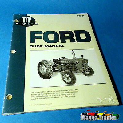FO31 Workshop Manual Ford 2000 3000 4000 Tractor with 3 Cyl Diesel Engine