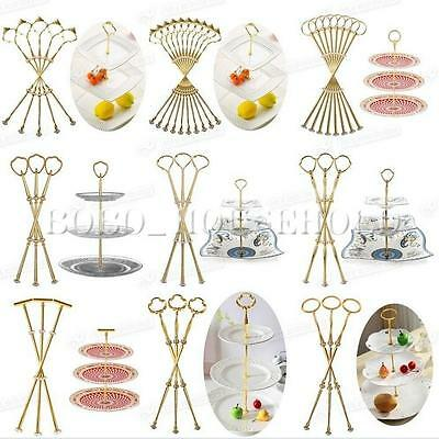 1-10set Heavy Metal Cake Plate Stand 2 3 Tier Center Handle Fitting Hardware Rod
