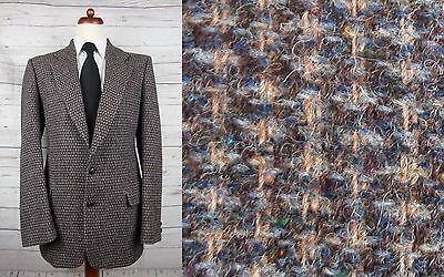 Vintage Brown / Grey with Bright Fleck Harris Tweed Jacket -42L- CW85